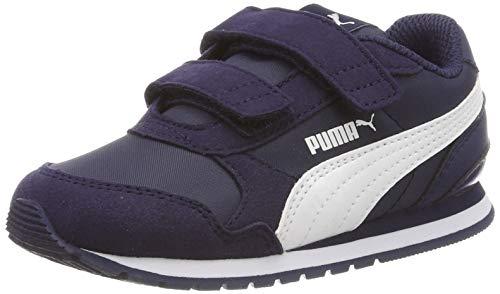 Puma Unisex-Kinder ST Runner v2 NL V Inf Sneaker, Blau (Peacoat-Puma White), 22 EU