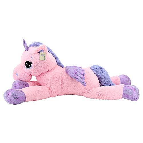 Sweety Toys 8049 XXL Einhorn Pegasus Plüschtier Kuscheltier 130 cm rosa