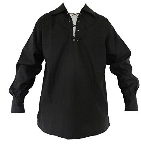 UT Kilts Jacobite Ghillie Shirt Black 2X-Large