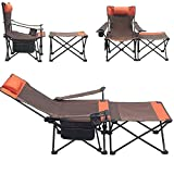 Collapsible Folding Recliner Chair with Footrest Outdoor Beach Folding Camping...