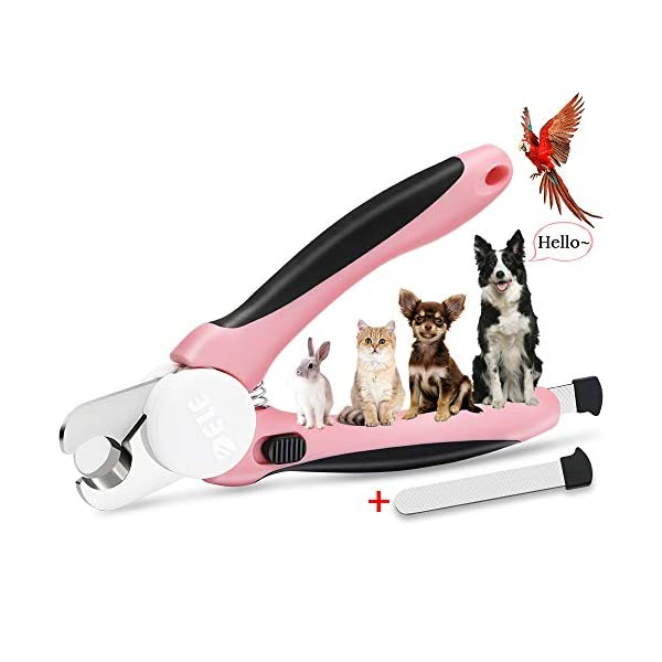 HeiYi Pet Nail Clippers and Trimmers with Safety Guard to Avoid Over Cutting Razor...