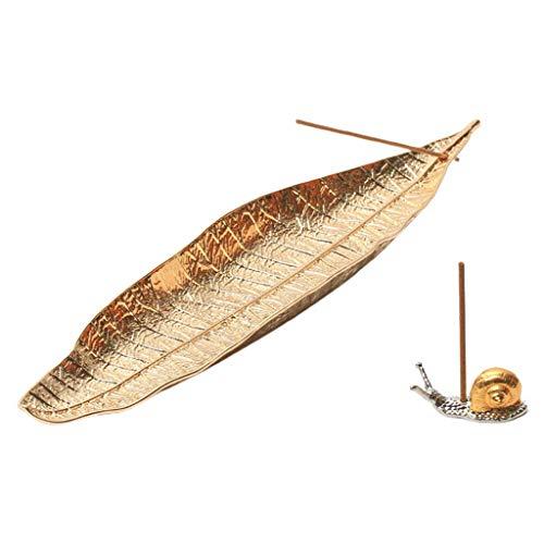 Soporte para quemador de incienso para hojas y caracol de incienso para mostradores, sala de meditación, yoga, decoración del hogar