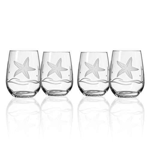 Starfish Stemless Wine Glass (Set of 4)