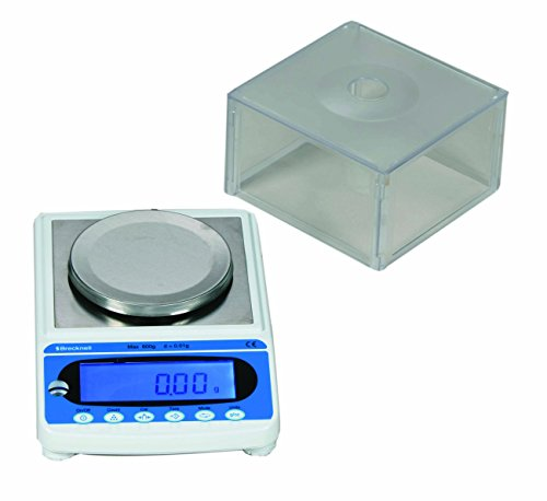 Brecknell MBS-300 Precision Lab Balances, 300 g Capacity, Large LCD, Steel Top Plate, Plastic