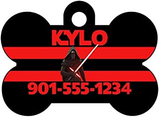 uDesignUSA Disney Star Wars Kylo Ren Dog Tag Pet Id Tag Personalized w/Your Pet's Name & Number