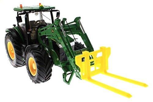 Paletten Lang Gabel für Siku Control 32 Traktoren - 6777 und 6778 (Schwarz)
