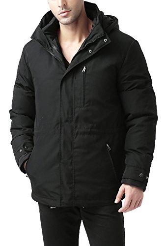 BGSD Men's James 3-in-1 Waterproof Down Parka Coat Black X-Large