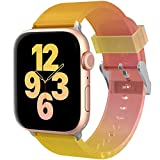 Compatiable with Apple Watch Band 38mm 40mm for Women Men, Ztacking Soft Silicone Replacement Bands Design for iWatch Series6/SE/5/4/3/2/1, Pinkish-Orange