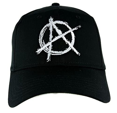 EOXO Gorras De Hombre Sombrero de anarquía Estampado Gorra de béisbol Ropa Alternativa Punk Rock Revolution