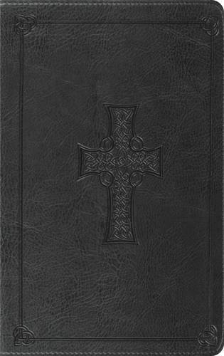 ESV Thinline Bible (TruTone, Charcoal, Celtic Cross Design)