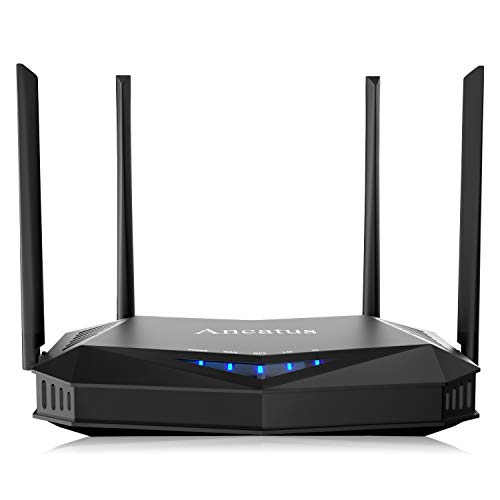 Ancatus-WiFi 6 Wireless Computer Router AX1800 1.8Gbps Gigabit MU-MIMO OFDMA 802.11ax Dual Band Internet Router Long Range Gaming Router WPA3 Ethernet Firewall Ipv6 2100 sq.ft