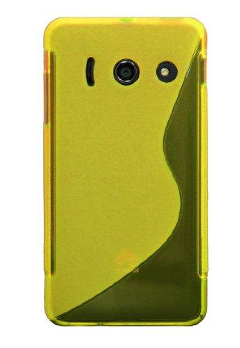 Luxburg® S-Line Design Schutzhülle für Huawei Ascend Y300 in Farbe Goldgelb/Gelb, Hülle Case aus TPU Silikon - 2