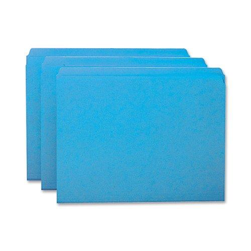 Smead File Folder, Reinforced Straight-Cut Tab, Letter Size, Blue, 100 per Box (12010)