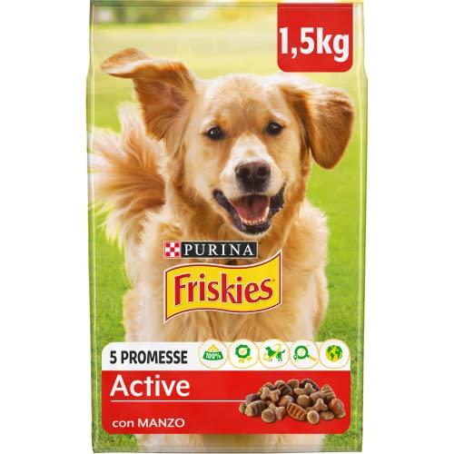 Friskies Purina - Pienso para Perro Vitafit Active con Ternera, 6 Bolsas de 1,5 kg Cada uno