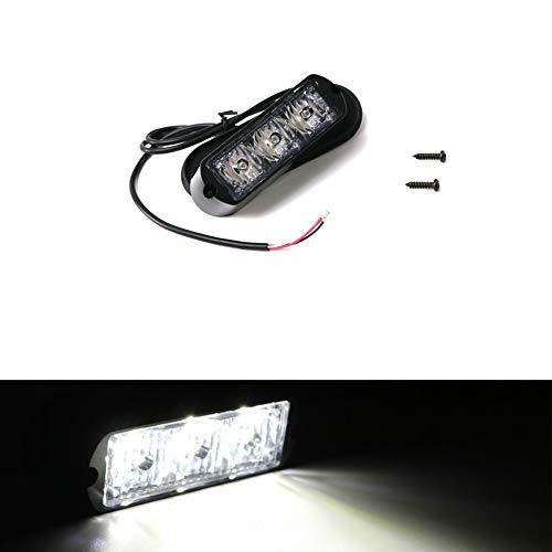 Led Blitzer, HEHEMM 3 Led Warnleuchte LKW Led Bar Lichtleiste Led Frontblitzer Auto-Notlicht Blinklichtleiste für Gitter Oberes Dachlicht12V-24V (Weiß)