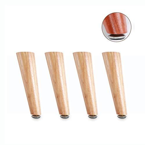 4 STÜCKE Massivholzmöbel Füße Sofa Beine Schräge Möbel Schrank Beine Stuhl Tisch Schreibtisch Ersatz Einstellbare Basis