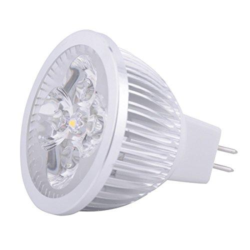 Bombilla LED, Lámpara de bombilla LED LED MR16 SPotlight - 4 vatios - 400-440 lúmenes - 40W igual - 3000/6000 Kelvin - 45 Deg. Inundación Estrecha - AC/DC 24V - Base GU5.3 Larga vida útil