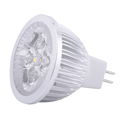 GR LED MR16 SPotlight - 4 Watt - 3000/6000 Kelvin - 400-440 Lumen - 40W Gleich - 45 Deg. Schmale Flut - AC/DC 24V - GU5.3 Base (Color : Warm white-10PCS)