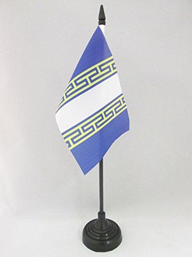 AZ FLAG TISCHFLAGGE DÉPARTEMENT Haute-Marne 15x10cm - Haute-Marne TISCHFAHNE 10 x 15 cm - flaggen