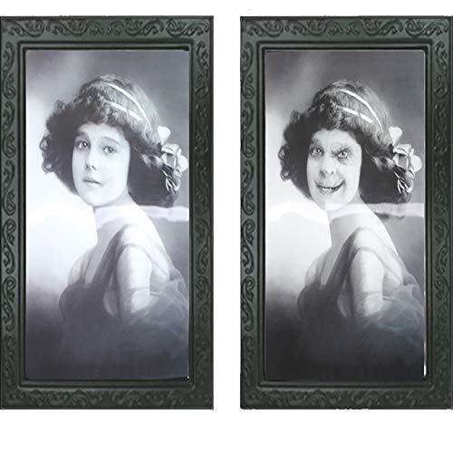 GT Halloween Decoratie 3D-fotolijst, griezelige portretten, spukfoto's, rekwisieten voor het podiumdecoratie, voor Halloween, bars, spuishuizen