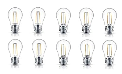 Philips LED Clear Glass Dimmable Filament Light Bulb
