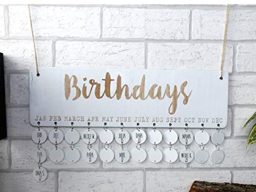 DIY Geburtstagskalender jahresunabhägig - Geburtstagsplaner zum selber machen - Geburtstag Kalender