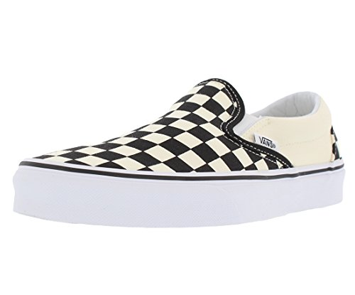 Vans Slip-on(tm) Core Classics - Zapatillas deportivas, Negro/Blanco/Tablero, 12 Women/10.5 Men
