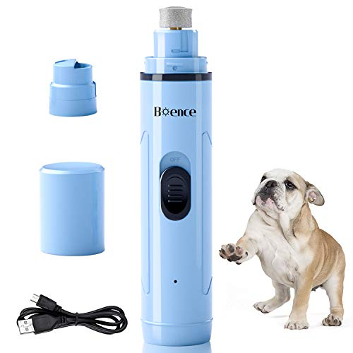 Boence Dog Nail Grinder Low Noise 2 Speed Pet Nail Trimmer Portable Professional Electric Nail Clipper File Painless Pet Paws Grooming Tool for Small Medium Large Dogs amp Cats