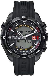 Swiss Military - Hanowa - Reloj analógico y Digital de Cuarzo para Hombre con Correa de plástico, Color Negro