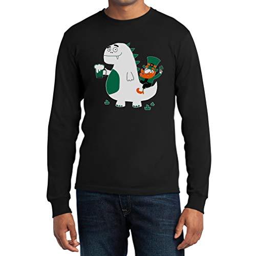 Shirtgeil St. Patrick's Day Draak Kobold Bier lange mouwen T-shirt
