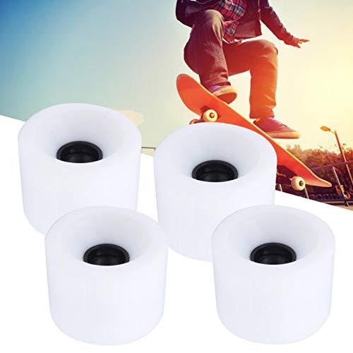 Okuyonic 4PCS / Set Skateboard Lenkung Sliding Skateboard Zubehör (Blau Orange Weiß) Cruiser Snakeboard Roller Quad Skates für Skateboard Pennyboard Waveboard(White)