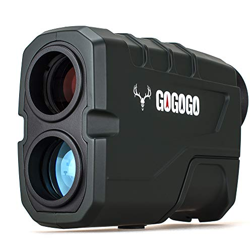 Gogogo Sport 1200 Yards Laser Range Finder, Hunting with Flagpole Lock – Ranging – Speed and Scan 6X Rangefinders with…