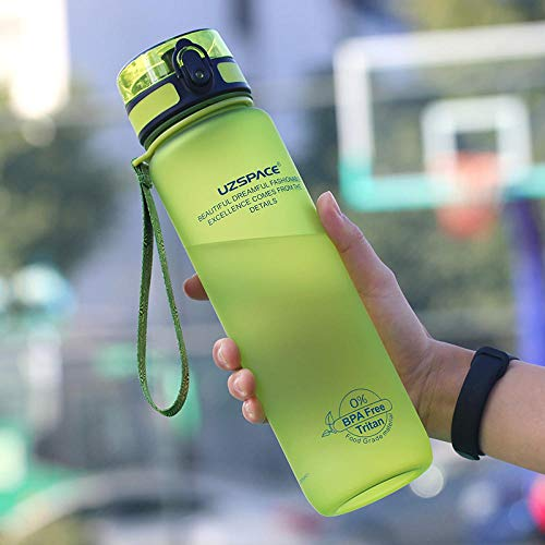 XIXISA Borraccia Sportiva da 1000 ml Agitatore per proteine Senza BPA Portatile a Prova di perdite Campo da Escursione Escursionismo Plastica Ecologica My Drink Bottle