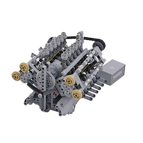 YIFAN 3D Engine Model Kit, DIY 788Pcs MOC V12 Engine Bricks Building Model for Adults, Hobby Engine Kit with Motors, Toy Engine Building Kit