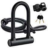 UBULLOX Bike U Lock Heavy Duty Bike Lock Bicycle U Lock, 16mm Shackle