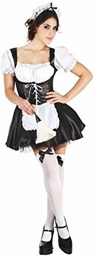 KULTFAKTOR GmbH Zimmermädchen-Damenkostüm Hausfrau schwarz-Weiss XL