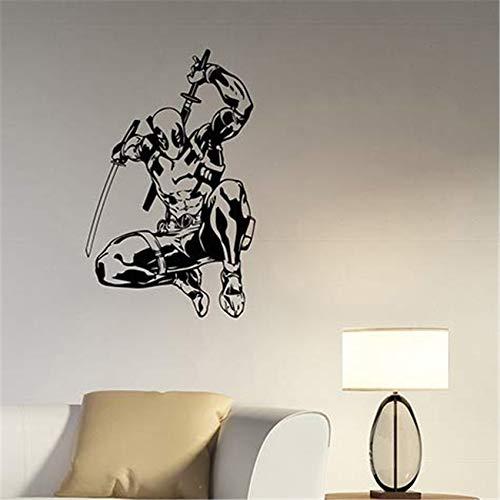 yaonuli Entfernbare wandaufkleber Cartoon Deadpool Dekoration kinderzimmer Dekoration Aufkleber wandaufkleber wandaufkleber 75x106cm