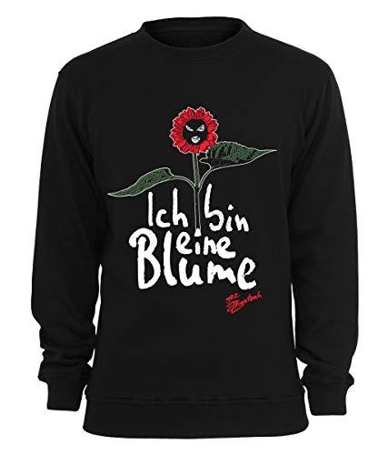 Alligatoah Sweater Ich Bin eine Blume, Farbe:schwarz, Größe:XL