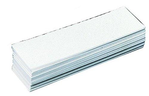 Novap - Etiquettes - Lot de 100 etiquettes avant pour bac 1 L - Blanc