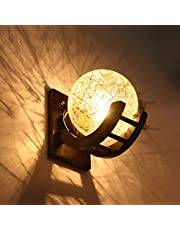 Somil Globe Shape Doom Wall Lamp Light with All Fixture, Compatible with 5 to 60 Watt LED, Round