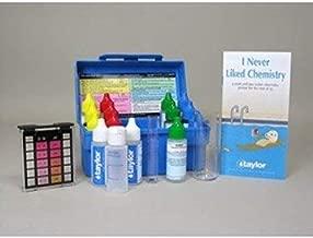 Taylor Technologies K-1005 Pool Test Kit, Residential Trouble-Shooter Pool & Spa Alkalinty/Bromine & Chlorine