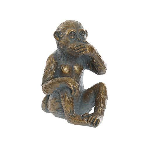 HOGAR Y MAS Mono Figura Decorativa Vintage de Resina, 3 Monos sabios. Diseño Original 11x13,5x20 cm - B