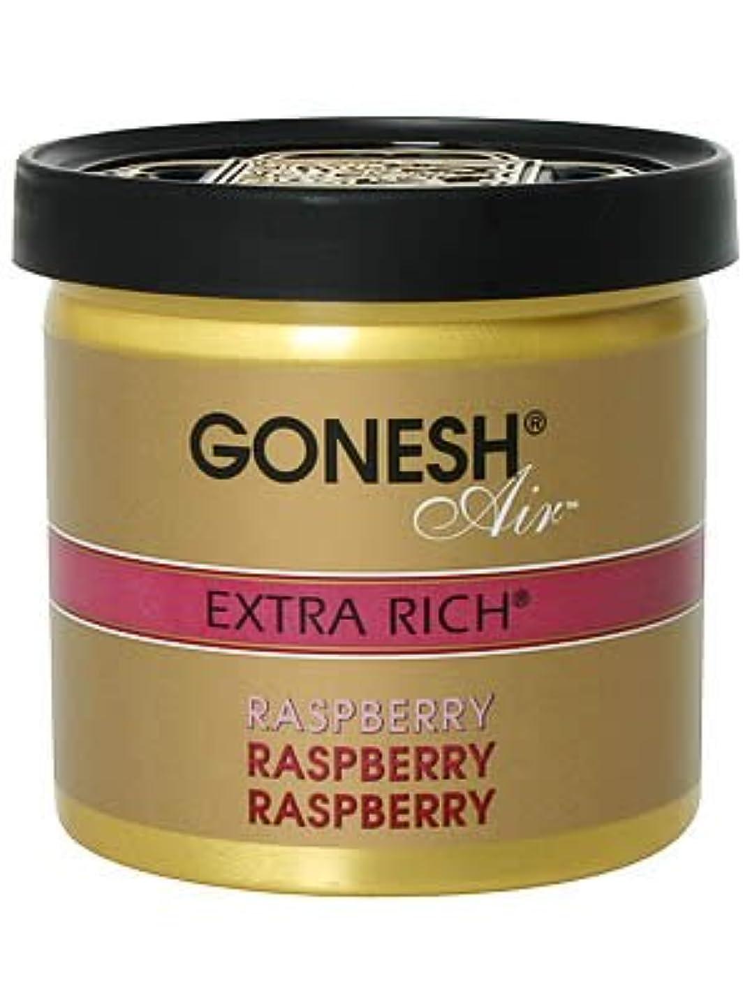 部族ポスター説得力のあるガーネッシュ(GONESH) ゲルエアフレッシュナー ラズベリー 78g