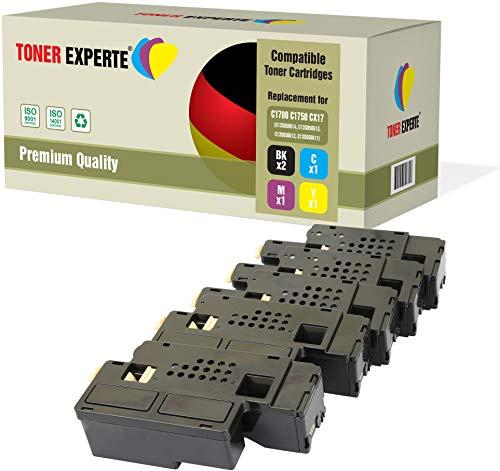 Kit 5 TONER EXPERTE Toner compatibili per Epson AcuLaser C1750N, C1750W, CX17NF, CX17WF, C1700, C1750, CX17