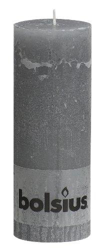 Rustik Stumpenkerze 190/68mm colour hellgrau