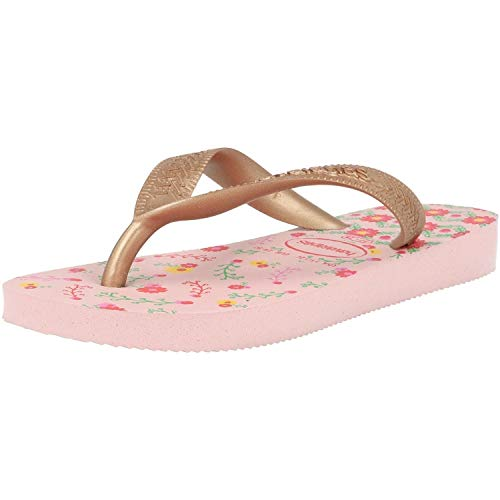 Havaianas Flores, Chanclas para Niñas, Multicolor (Crystal Rose/Rose Gold Metallic 7667), 23/24 EU