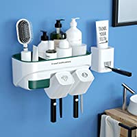 U-Chain Toothbrush Holder Wall Mount with 2Cups
