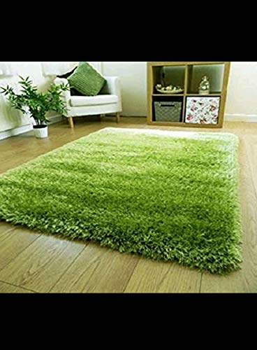 Buy Srhandloom Soft Fluffy Grass Design Carpet Rug For Bedroom And Living Room Green 3 X 5 Online At Low Prices In India Amazon In