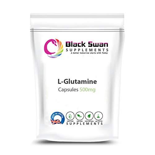 Black Swan L-Glutamine 500mg Veg Capsules Ltd Bodybuilding Veg Capsule – Healthy Gastrointestinal System – Healthy Muscles – Immune Health (120 Caps)