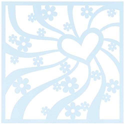 "CLEARSNAP Clear Scraps CSSMGRYHEART6 Stencils, 6"" x 6"", Groovy Heart, Blue"